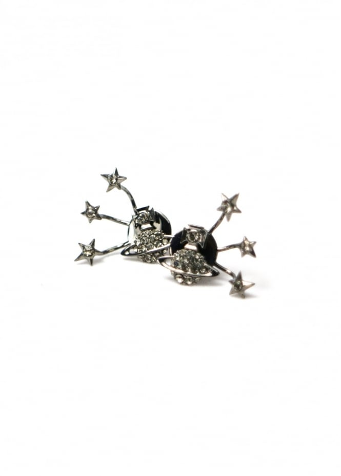 Vivienne Westwood Jewellery PIA Earrings Ruthenium/Black