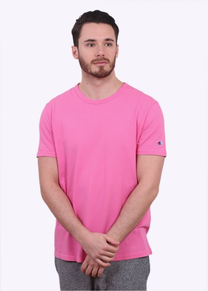 Champion Reverse Weave Classic SS Crew Tee - Pink