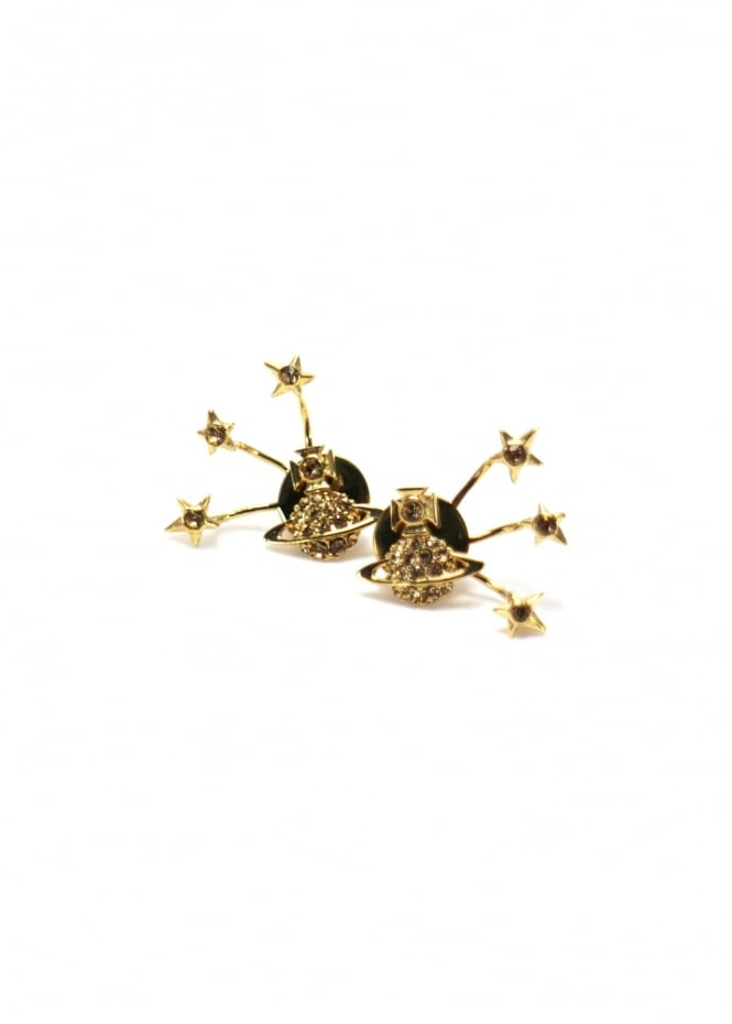 Vivienne Westwood Jewellery PIA Earrings Gold/Topaz