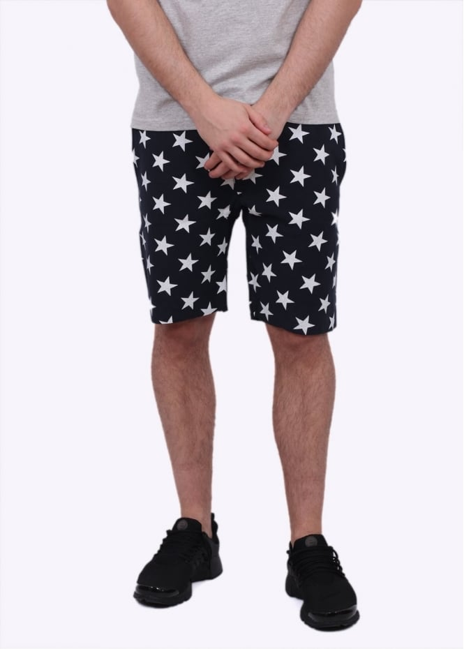Champion Reverse Weave Allover Star Print Shorts - Navy Blue