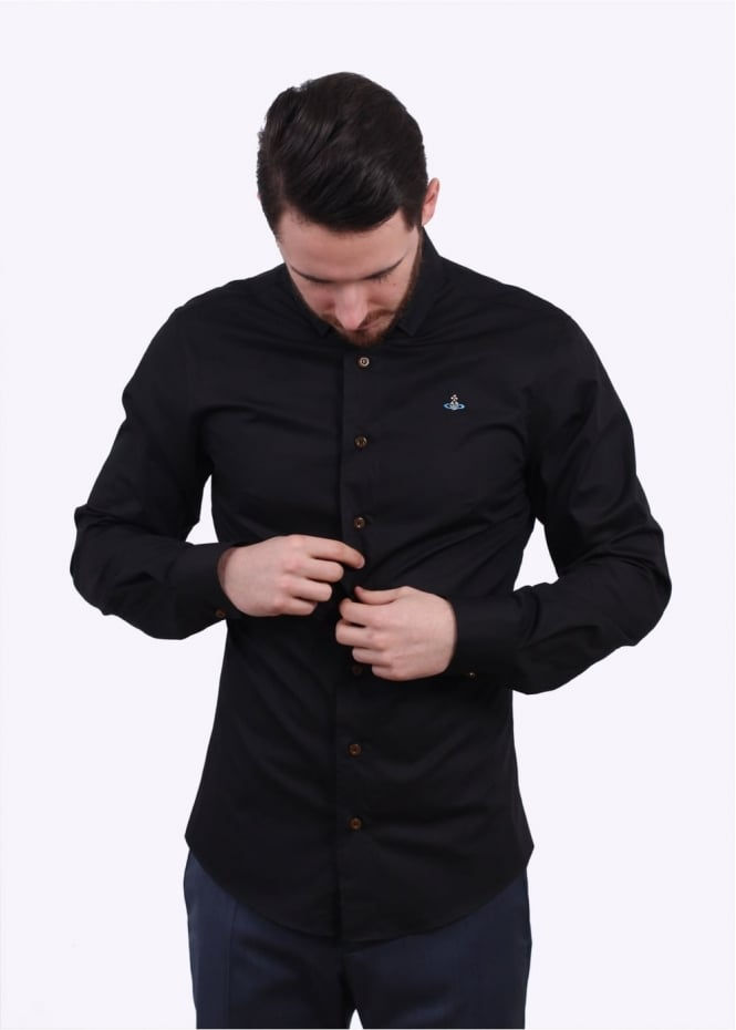Vivienne Westwood Mens Krall Stretch Shirt - Black