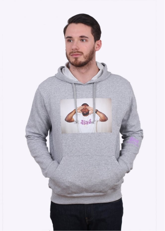Alife Raekwon Hoodie - Heather Grey