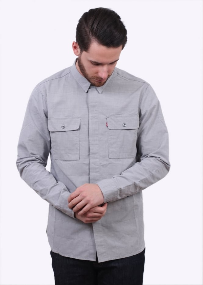 Levi's Commuter LS Workshirt - Steel