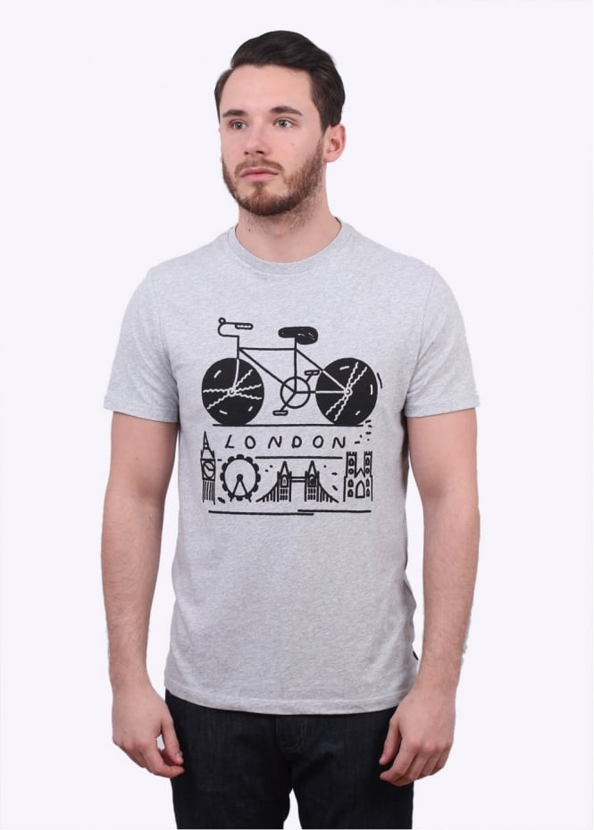 Levi's Commuter Drop Hem London Tee - Grey