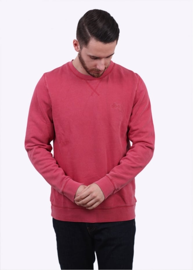 Stussy Overdyed Stock Sweater - Salmon