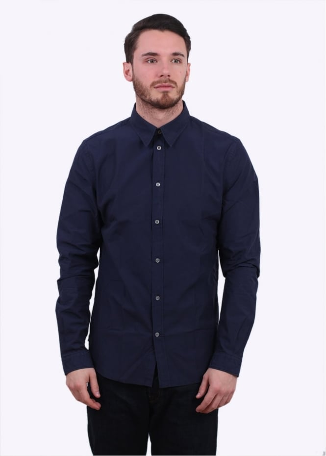 Paul Smith Tailored Plain Shirt - Navy