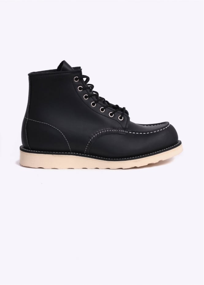 "Red Wing Shoes 6"" Classic Moc Boots - Black"