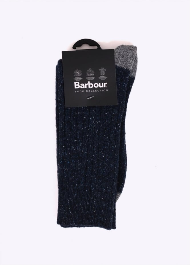 Barbour Houghton Socks - Navy / Grey