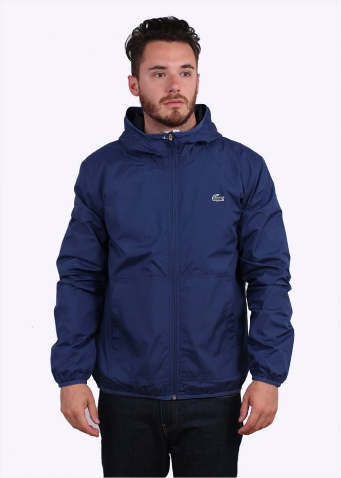 Lacoste Hooded Jacket - Waterfall Blue