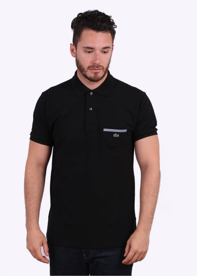 Lacoste SS Pocket Polo - Black
