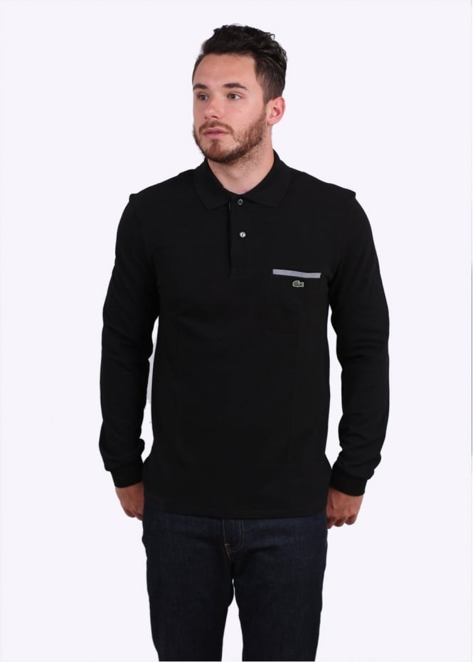 Lacoste LS Pocket Polo - Black