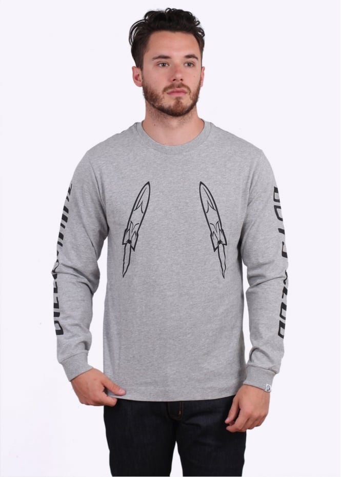 Billionaire Boys Club Digital LS Tee - Heather Grey