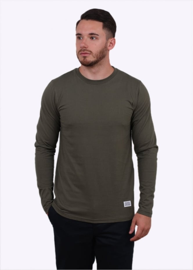 Norse Projects Niels Basic Long Sleeve Tee - Dried Olive