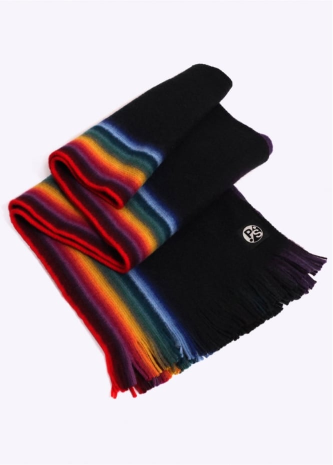 Paul Smith Reverse Multi Scarf - Black