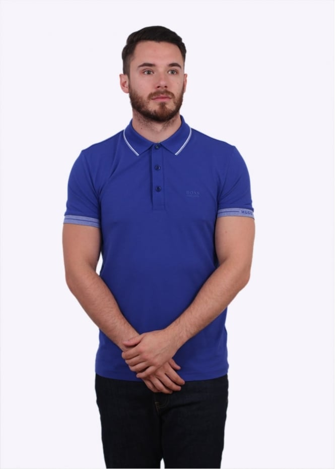 Hugo Boss Green Paule Polo Shirt - Open Blue