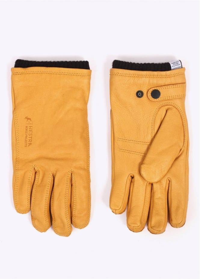 Norse Projects x Hestra Utsjo Leather Gloves - Rapeseed