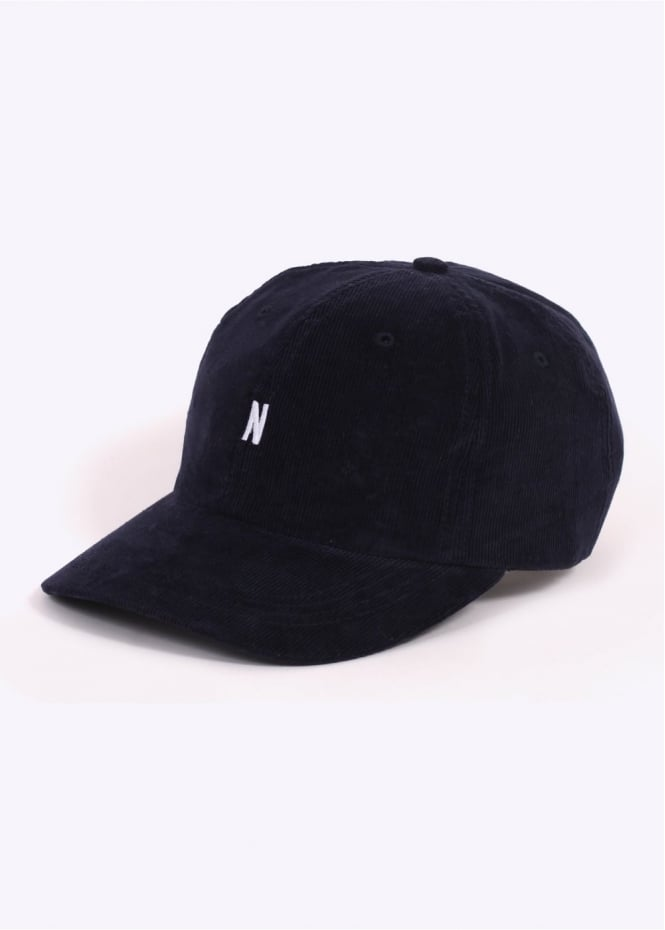 Norse Projects Corduroy Sports Cap - Dark Navy
