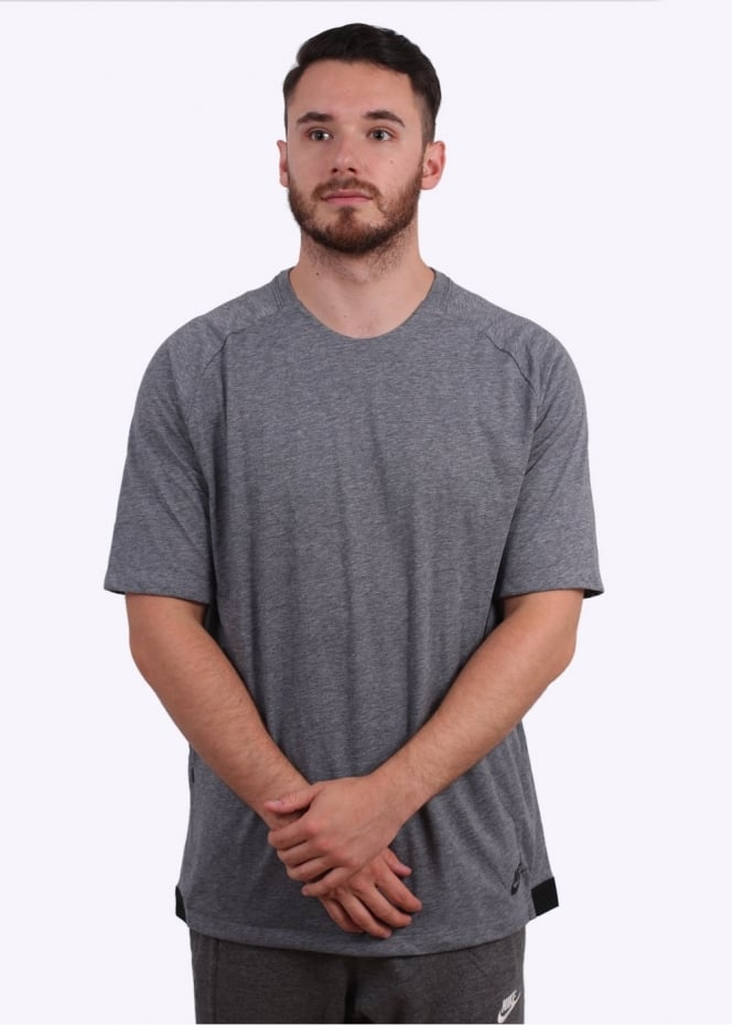 Nike Apparel Bonded Top - Carbon Heather