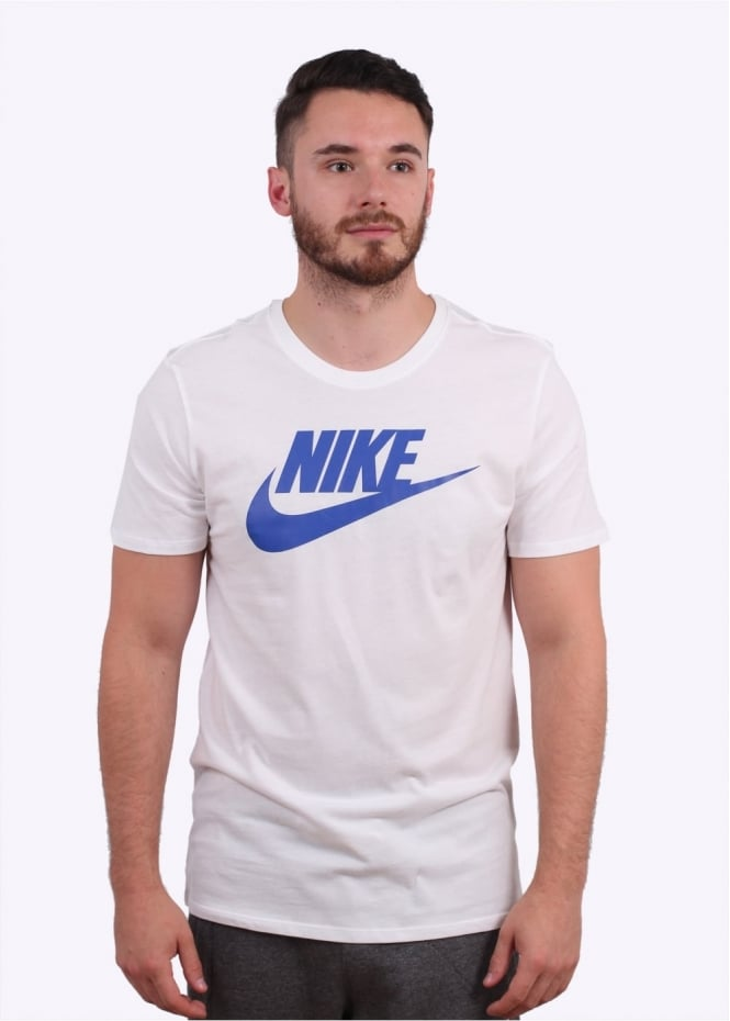 Nike Apparel Futura Icon Tee - White / Game Royal