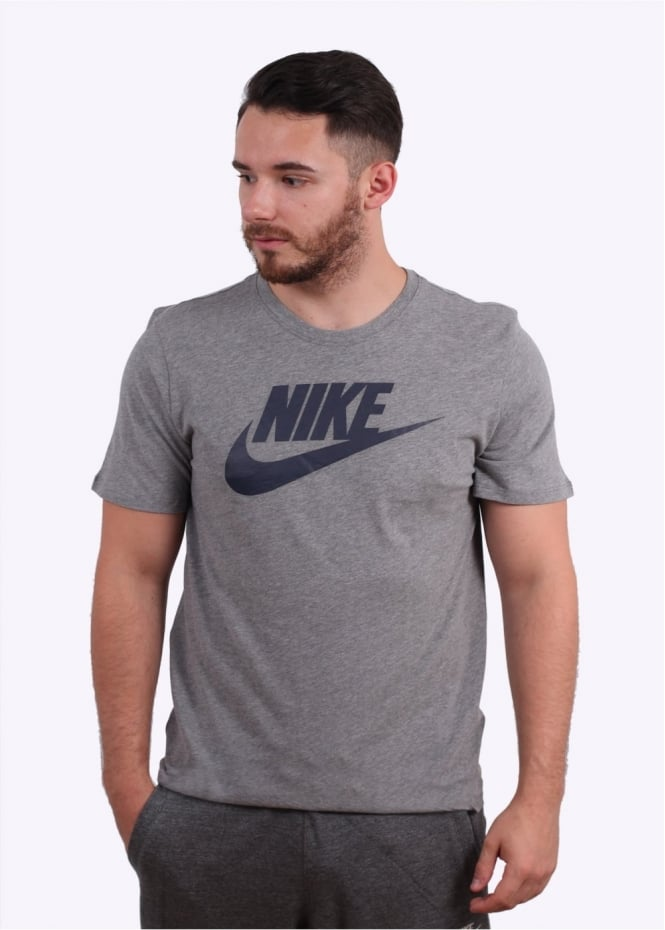 Nike Apparel Futura Icon Tee - Carbon Heather