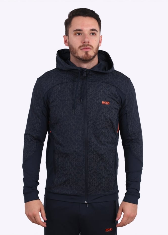Hugo Boss Green Saggytech Hoodie - Navy