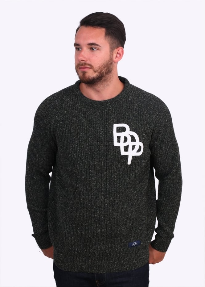 Bleu De Paname Pull Raglan Sweater - Dark Green
