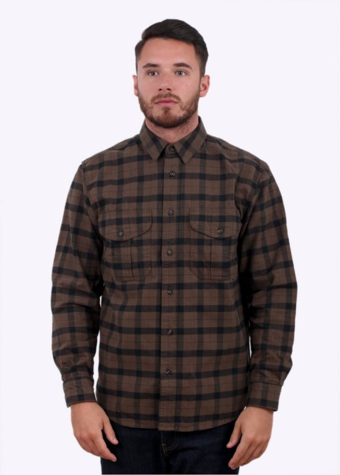 Filson Alaskan Guide Shirt - Otter Green / Black