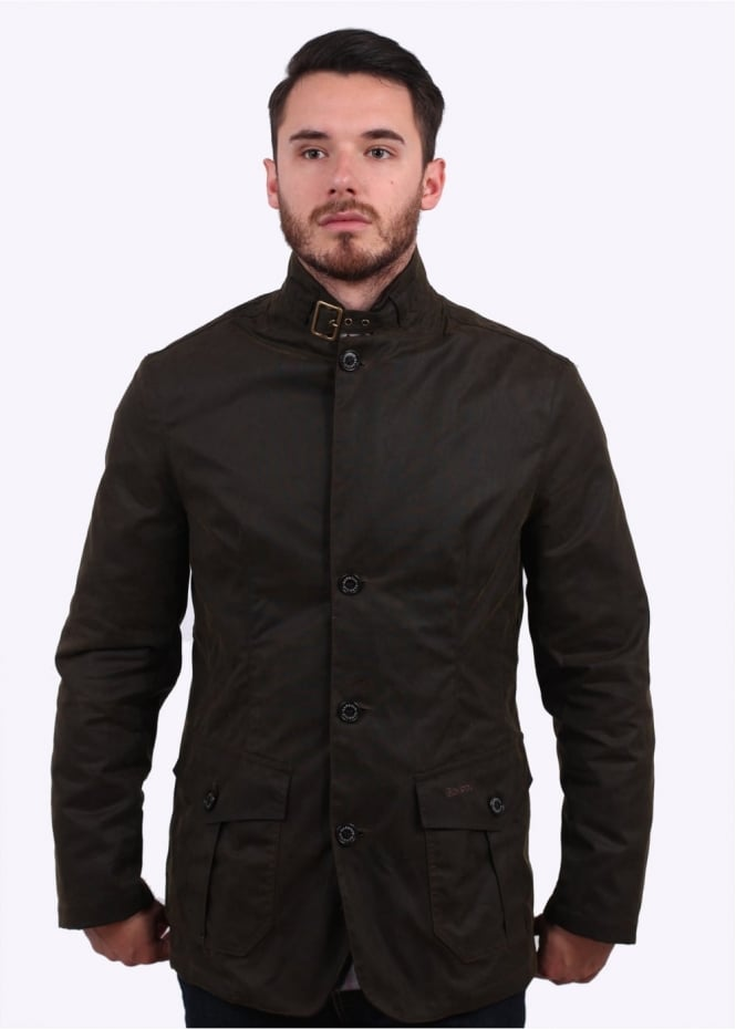 Barbour Lutz Wax Jacket - Olive