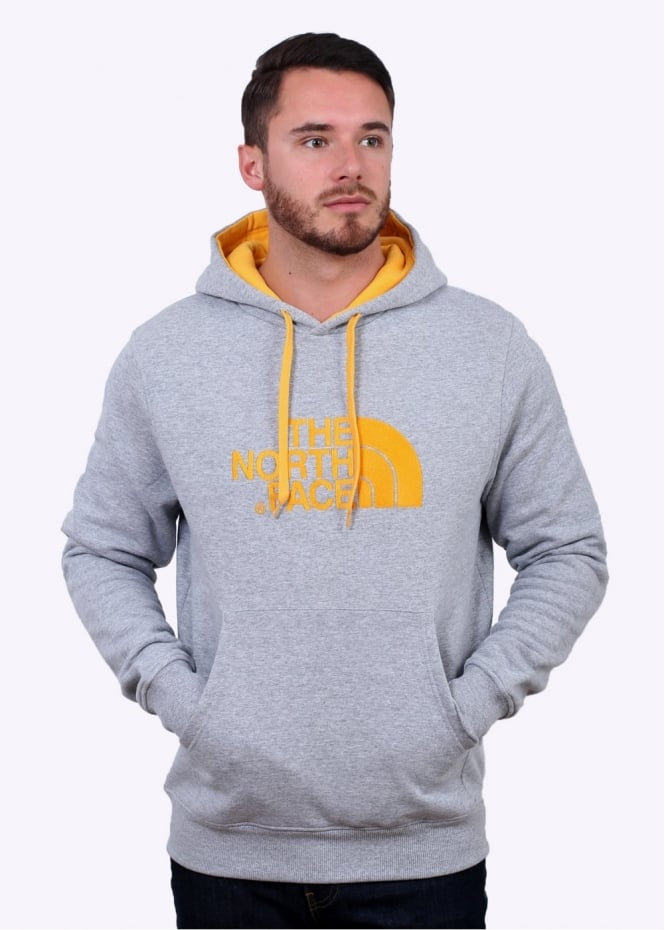 The North Face Drew Peak PV Hoody - Grey / Yellow