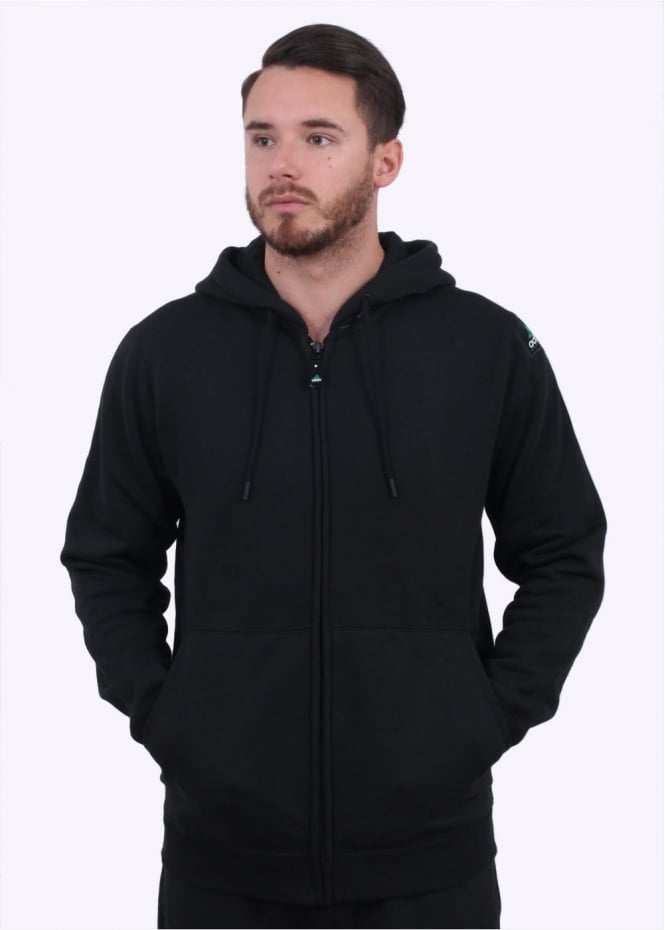 Adidas Originals Apparel EQT Full Zip Hoodie - Black