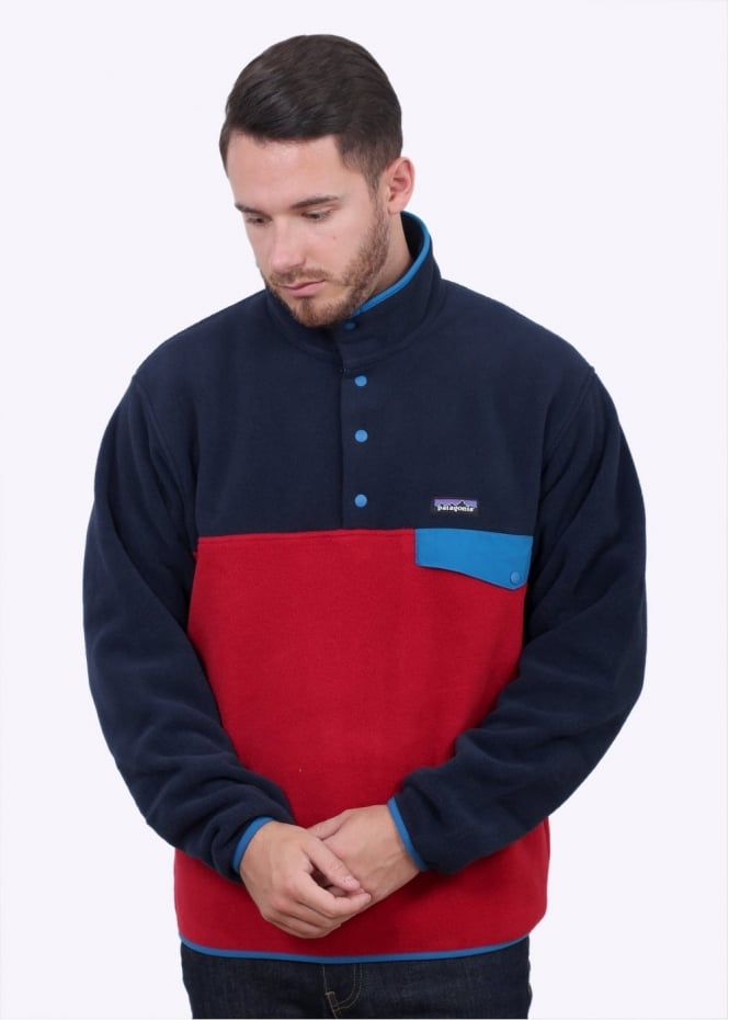 Patagonia LW Synchilla Snap-T Pullover - Raspen Red