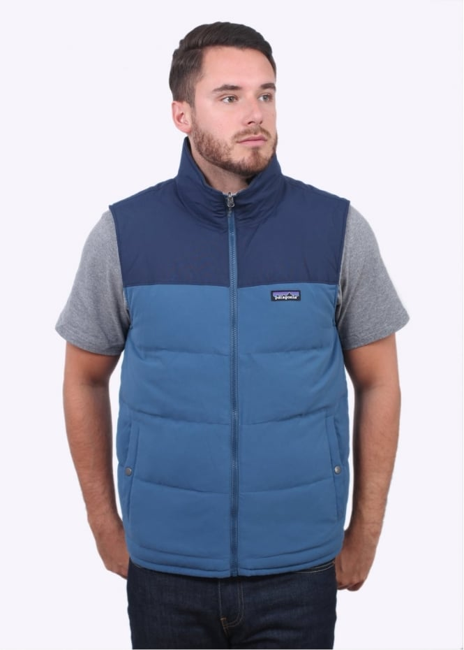 Patagonia Reversible Bivy Down Vest - Glass Blue