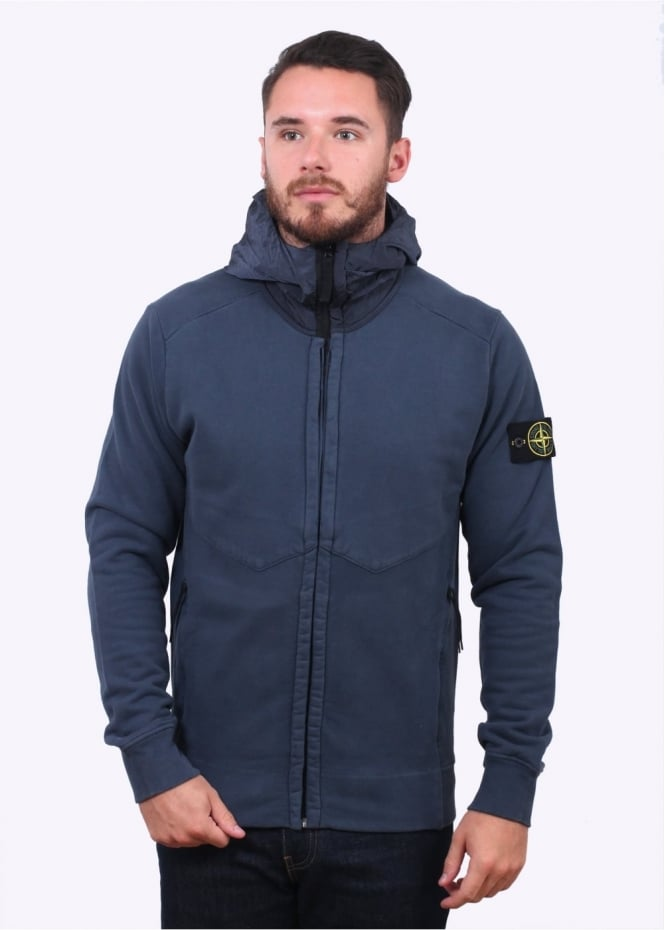 Stone Island Thick Zip Jacket - Dark Blue