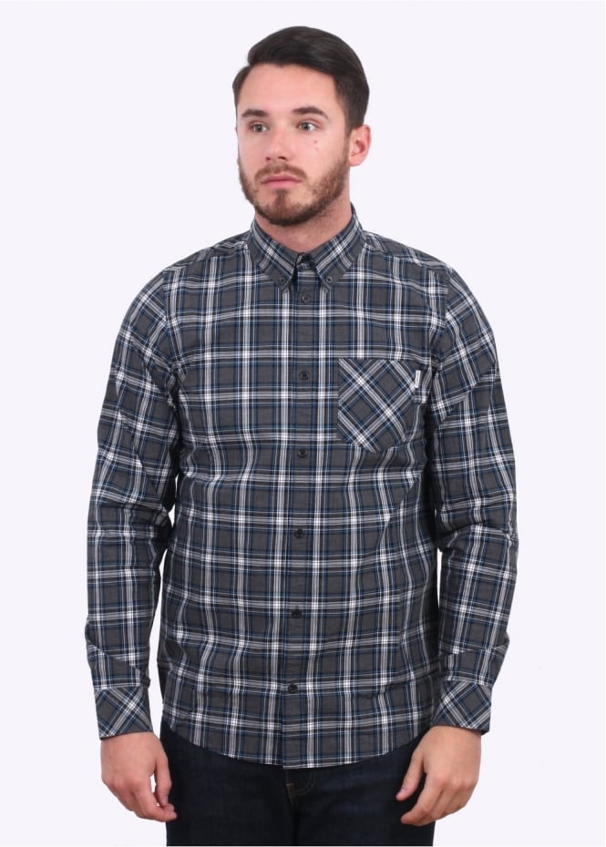 Carhartt Long Sleeve Leroy Shirt - Black Heather