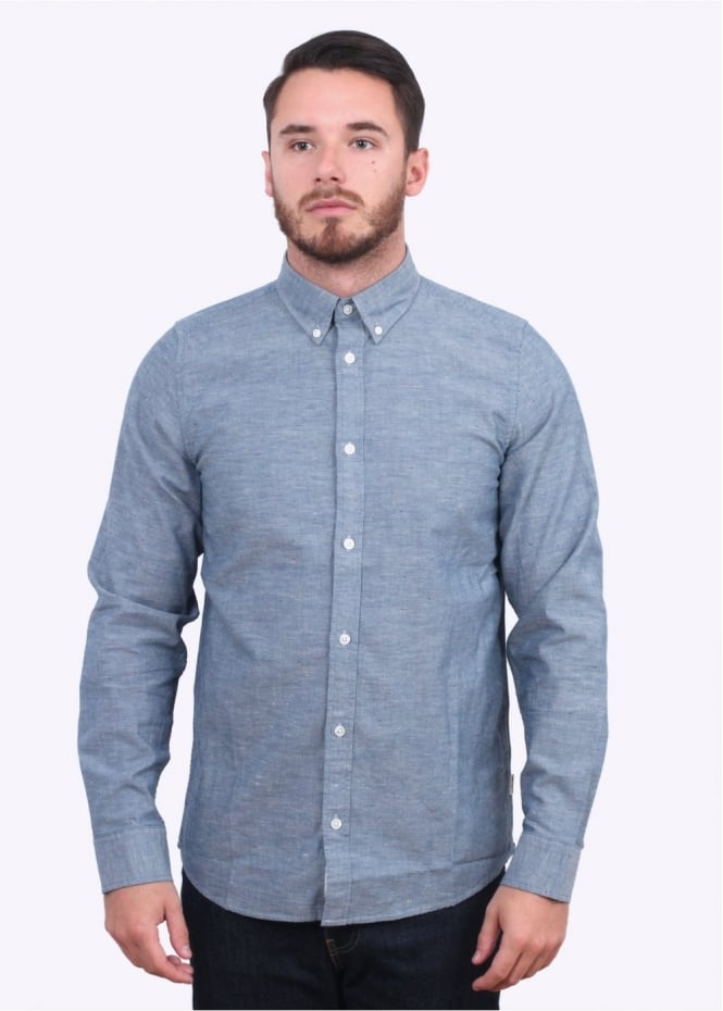 Carhartt Long Sleeve Kyoto Shirt - Blue Stone Wash