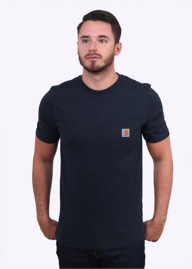 Carhartt SS Pocket T-Shirt - Navy Heather