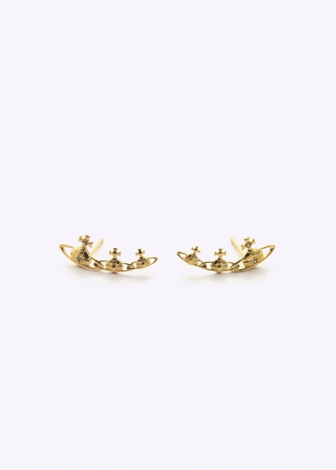 Vivienne Westwood Jewellery Candy Earrings Gold/Topaz