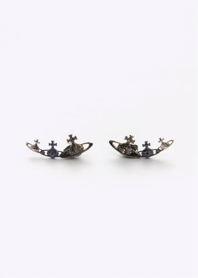 Vivienne Westwood Jewellery Candy Earrings Ruthenium/Black