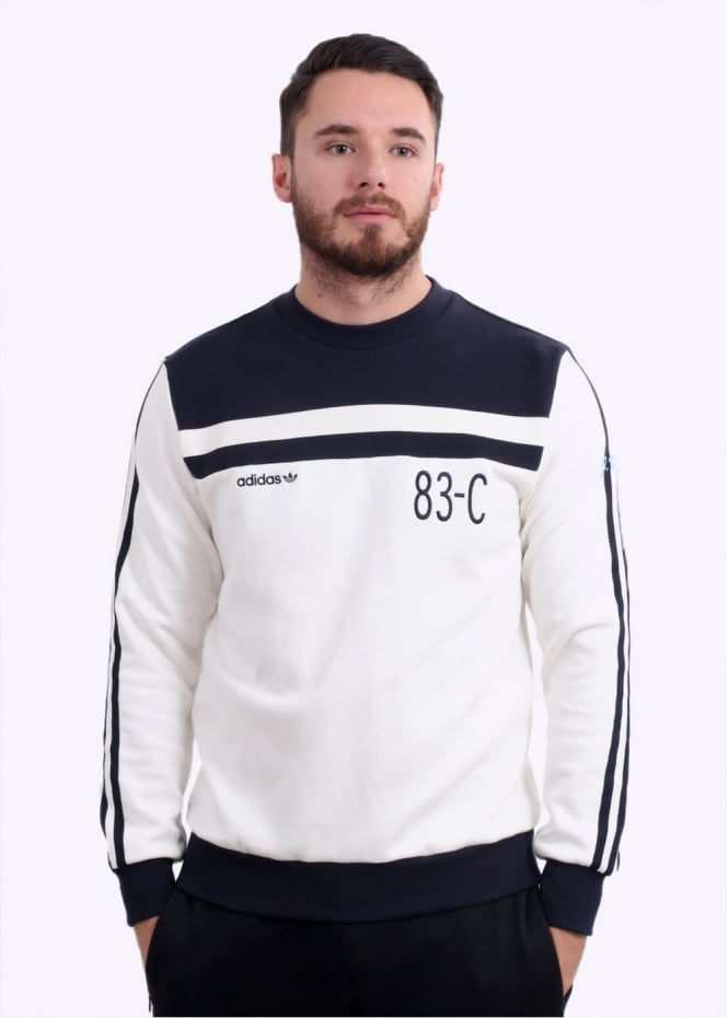 Adidas Originals Apparel 83-C Crew - White / Navy