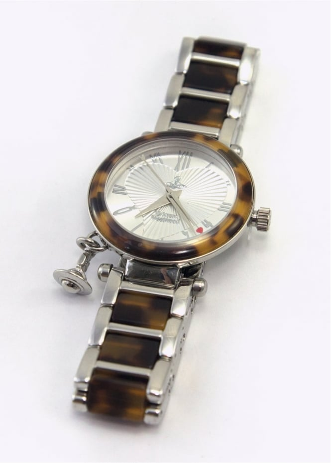 Vivienne Westwood Ladies Watches Orb Watch Silver/Tortoise