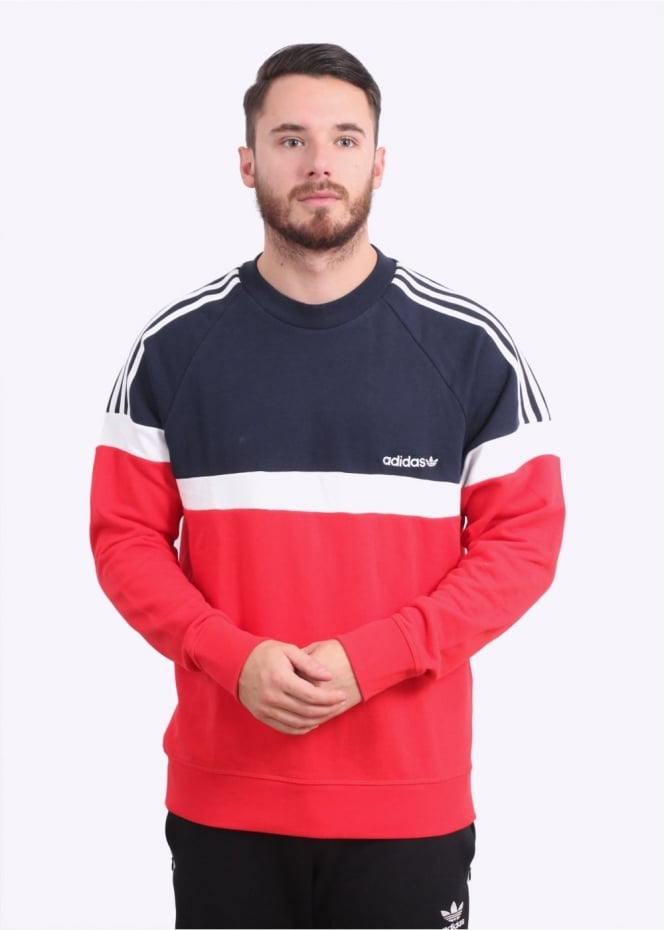 Adidas Originals Apparel Itasca Crew Sweater - Vivid Red