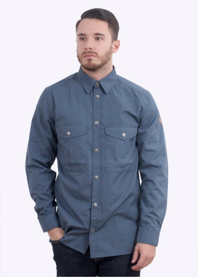 Fjallraven Greenland Shirt - Uncle Blue - Triads Mens from Triads UK