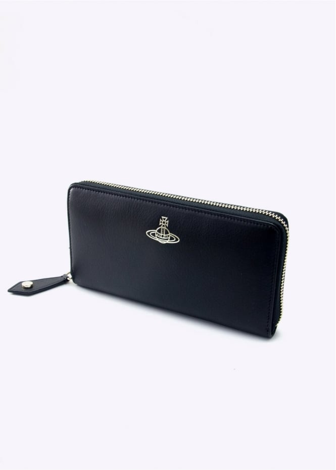 Vivienne Westwood Accessories Zip Round Spencer Wallet Black