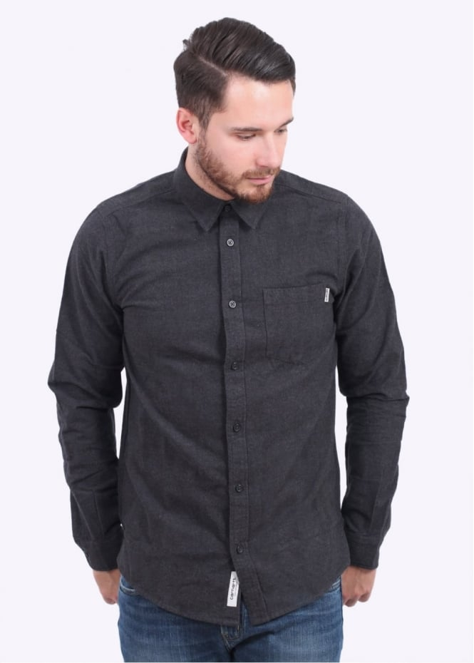 Carhartt LS Griffith Shirt - Black Heather