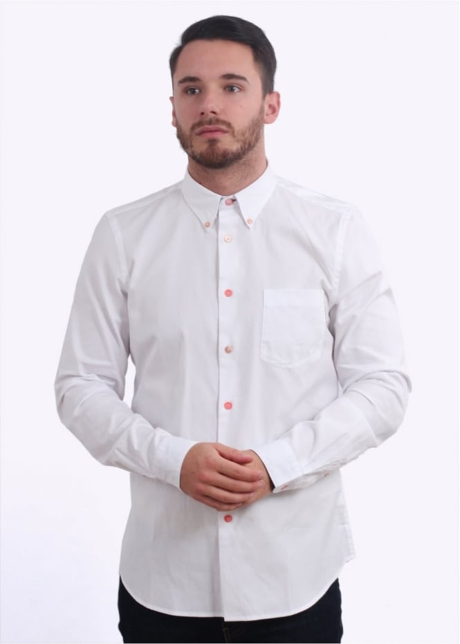 Paul Smith LS Tailored Fit Shirt - White