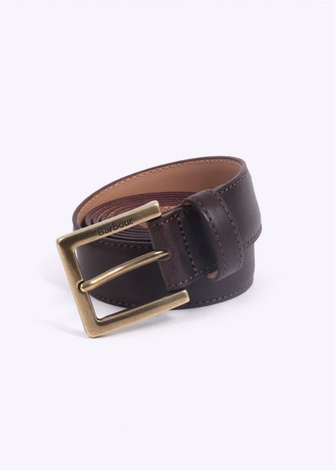 Barbour Country Leather Belt - Brown