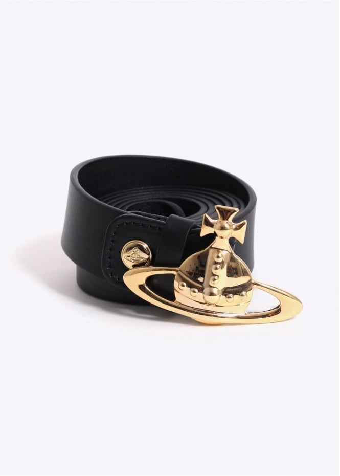 Vivienne Westwood Mens Orb Buckle Belt - Black