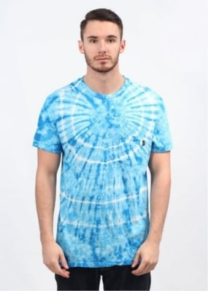 Obey Burst Pocket T-Shirt - Bright Blue