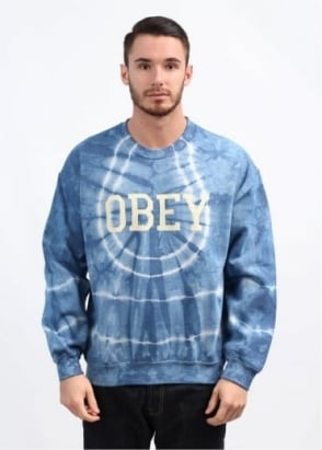Collegiate Obey 2 Sweatshirt - Light Indigo