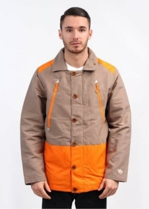 Adidas Originals x Kazuki 84-Lab Coach Jacket - Light Twine / Orange